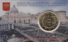 Vatikan 50 Cent Franziskus 2015 in Coincard Nr. 6