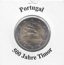 Portugal 2 € 2015 500 Jahr Timor, bankfrisch aus der Rolle