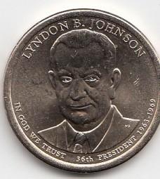 USA Präsidenten Dollar 2015, B. Johnson, Buchstabe P