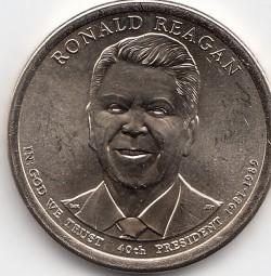 USA Präsidenten - Dollar 2016, R. Reagan, bankfrisch, Buchstabe P