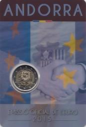 Andorra 2 € 2015 25 Jahre Zollabkommen im Blister