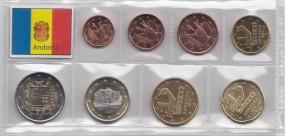Andorra 2015, Satz lose Ware 1 Cent - 2 Euro, bankfrisch