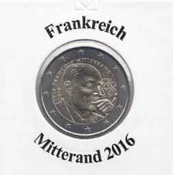 Frankreich 2 € 2016, Mitterand, bankfrisch aus der Rolle