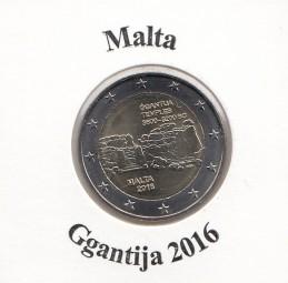 Malta 2 € 2016, Ggantija, bankfrisch aus der Rolle