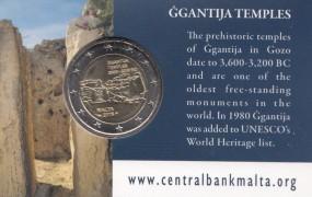 Malta 2 Euro Ggantija, 2016 in Coincard mit Prägezeichen