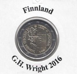 Finnland 2 € 2016, Georg Henrik von Wight, bankfrisch aus der Rolle