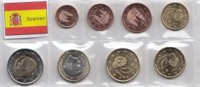 Spanien Satz lose Ware 1 Cent - 2 Euro, 2016, bankfrisch