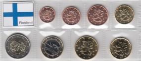 Finnland Satz lose Ware 1 Cent - 2 Euro, 2016, bankfrisch