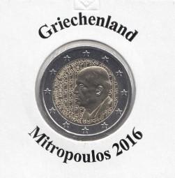 Griechenland 2 € 2016 Mitropoulos, bankfrisch