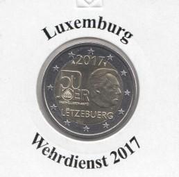 Luxemburg 2 € 2017, Wehrdienst, bankfrisch