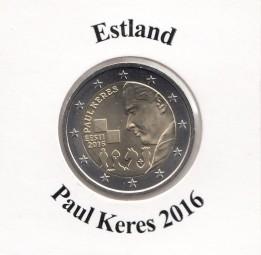 Estland 2 € 2016 P. Keres, bankfrisch