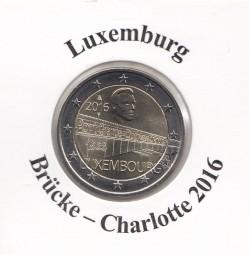 Luxemburg 2 € 2016, Brücke-Charlotte, bankfrisch