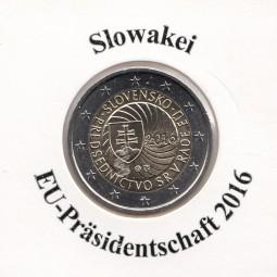 Slowakei 2 € 2016,EU-Präsidentschaft ,bankfrisch