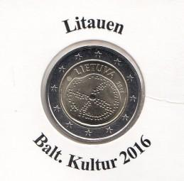 Litauen 2 € 2016, Balt. Kultur, bankfrisch