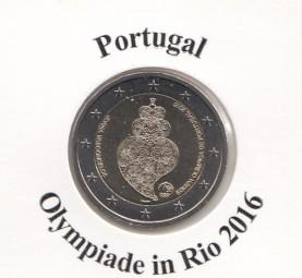 Portugal 2 € 2016, Oly Rio, bankfrisch