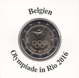 Belgien 2 € 2016 Oly Rio, bankfrisch