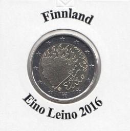 Finnland 2 € 2016 , Eino Leino, bankfrisch