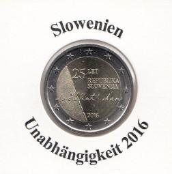 Slowenien 2 € 2016, Unabhängigkeit, bankfrisch