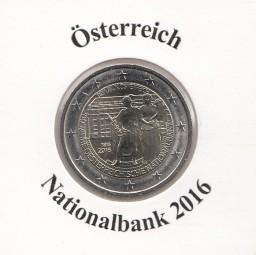 Österreich 2 € 2016, Nationalbank, bankfrisch
