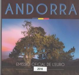 Andorra KMS 2016 , offizieller Kursmünzsatz