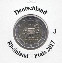 Deutschland 2 € 2017, Rheinl. Pfalz, Buchstabe J, bankfrisch