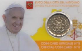 Vatikan 50 Cent in Coincard Nr. 8 / 2017 ( mit neuem Motiv )