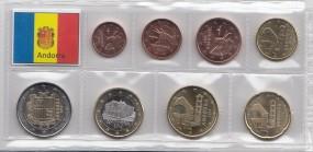 Andorra 2016 Satz lose Ware 1 Cent - 2 Euro, bankfrisch