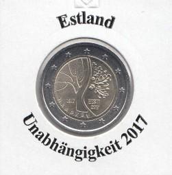 Estland 2 € 2017 Unabhängigkeit , bankfrisch aus der Rolle