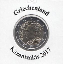 Griechenland 2 € 2017, Kazantzakis, bankfrisch