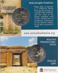 Malta 2 € 2017 Hagar Qim in Coincard mit Prägezeichen MdP