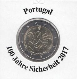 Portugal 2 € 2017 Sicherheit, bankfrisch aus der Rolle