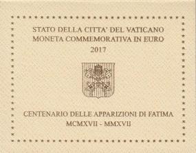 Vatikan 2 € 2017 Fatima im Blister