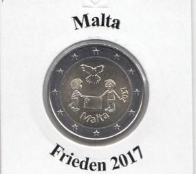 Malta 2 € 2017, Frieden, bankfrisch aus der Rolle