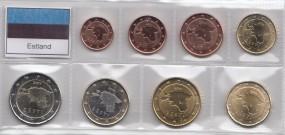 Estland Satz 2011 1 Cent - 2 Euro lose Ware , aus der Rolle, bankfrisch