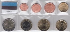Estland 2018, Satz 1 Cent - 2 Euro, lose, bankfrisch