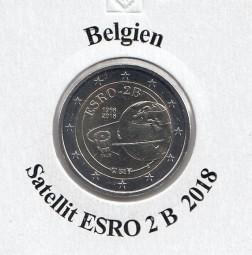 Belgien 2 € 2018, Satellit ESRO 2 B, bankfrisch