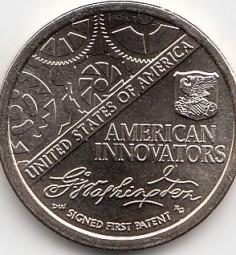 USA, Innovation Dollar 2018, 1.Patent, Buchstabe P, bankfrisch aus der Rolle