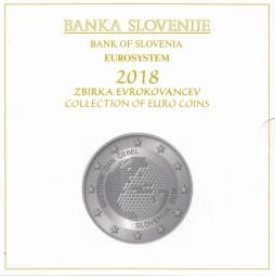 Slowenien Kursmünzsatz 2018 ST