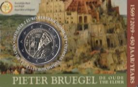 Belgien 2 € 2019, P. Bruegel , bankfrisch in Coincard