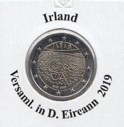 Irland 2 € 2019, D. Eireann bankfrisch