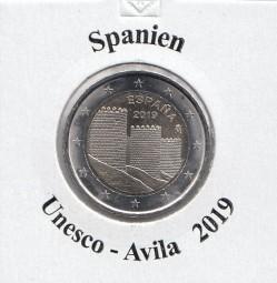 Spanien 2 € 2019 Avila bankfrisch