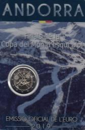 Andorra 2 € 2019 Ski Weltcup im offiziellen Blister