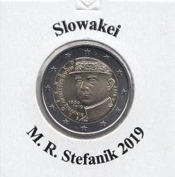 Slowakei 2 € 2019 Stefanik , bankfrisch aus der Rolle
