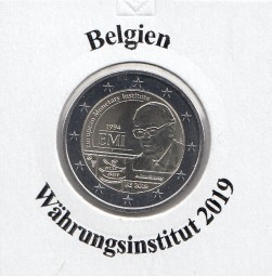 Belgien 2 € 2019, Währungsinstitut, bankfrisch