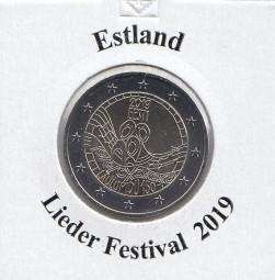 Estland 2 € 2019 Lieder Festival, bankfrisch