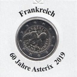 Frankreich 2 € 2019, 60 Jahre Asterix bankfrisch