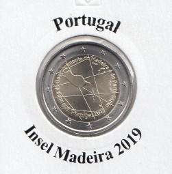 Portugal 2 € 2019 Insel Madeira, bankfrisch