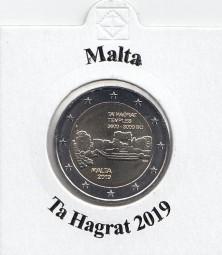 Malta 2 € 2019, Ta Hagrat, bankfrisch aus der Rolle