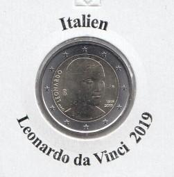 Italien 2 € 2019, Da Vinci, bankfrisch aus der Rolle