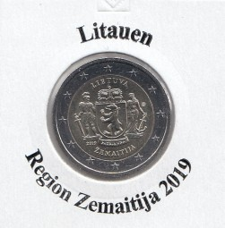 Litauen 2 € 2019, Region Zemaitija, bankfrisch